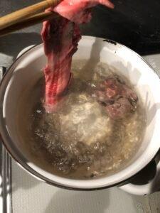 how to make doteyaki: Boiling beef tendons