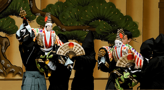 A bunraku performance.