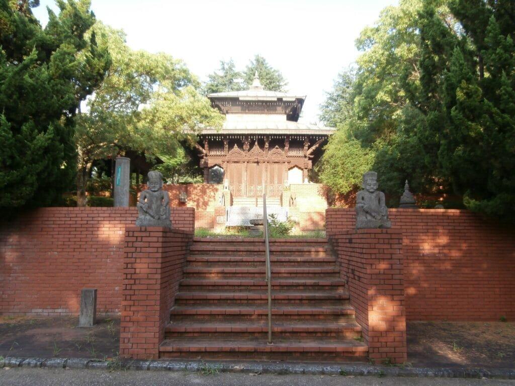 The Nepalese garden in Tsurumi-Ryokuchi Park.