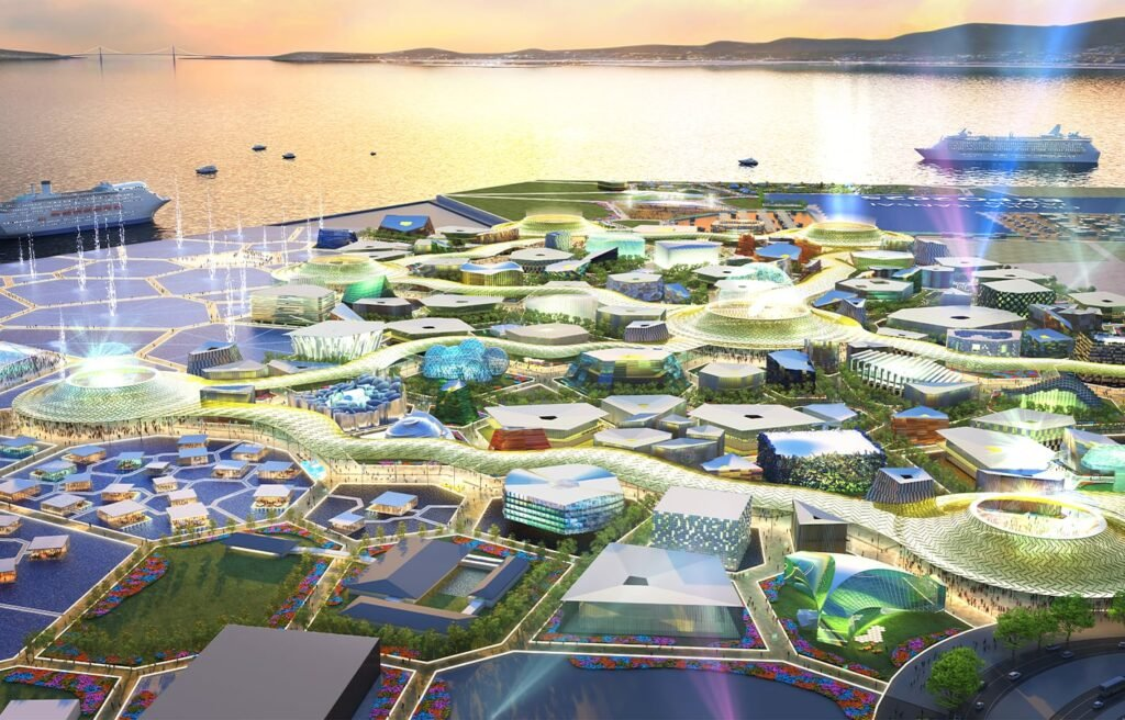 Concept for the Expo 2025 event site. Source: Japan Association for the 2025 World Exposition https://www.expo2025.or.jp/en/