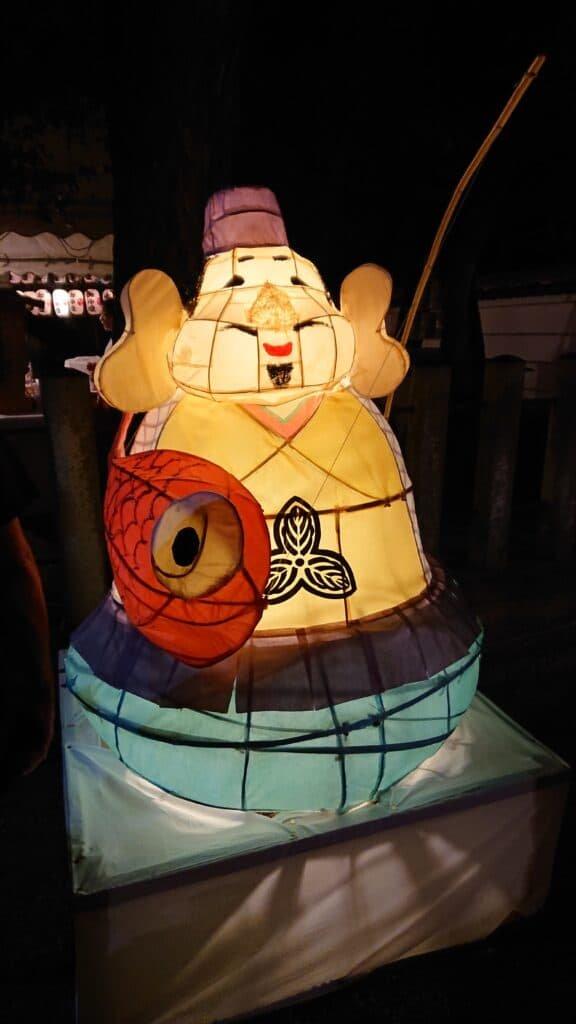 An Ebisu paper lantern at the Natsu Ebisu festival.