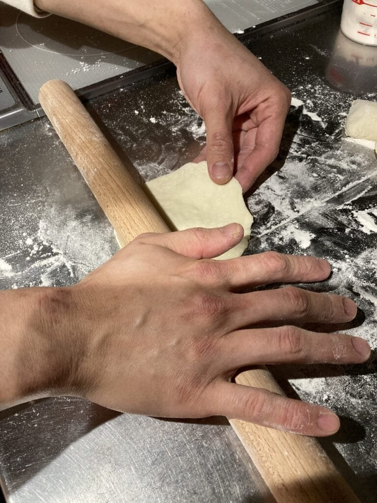 How to make butaman: rolling