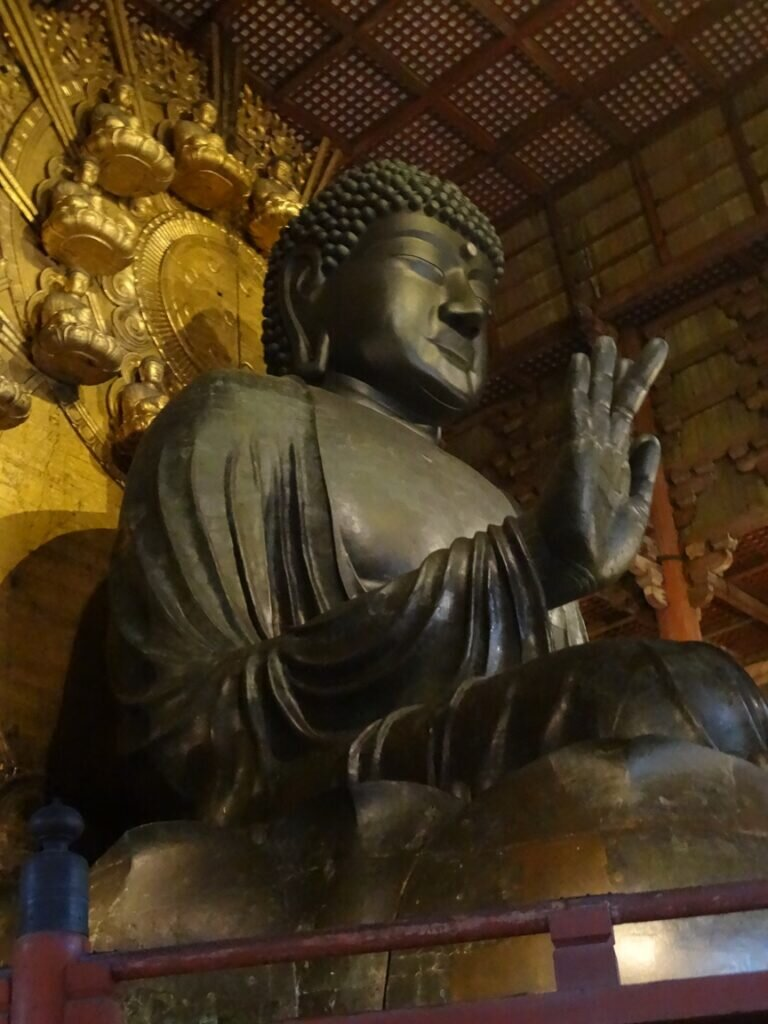The Great Buddha statue at Todaiji in Nara, which is said to have been made possible by Gyoki's fundraising.