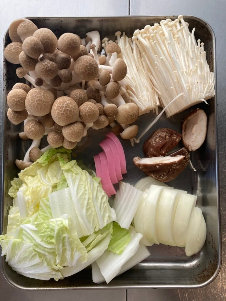 How to make Udon Suki: vegetables